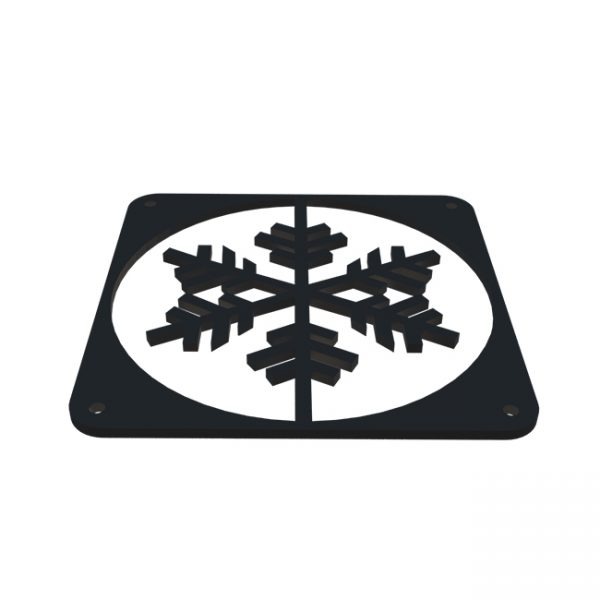 Snowflake fractal design Zwart fan grill 120mm