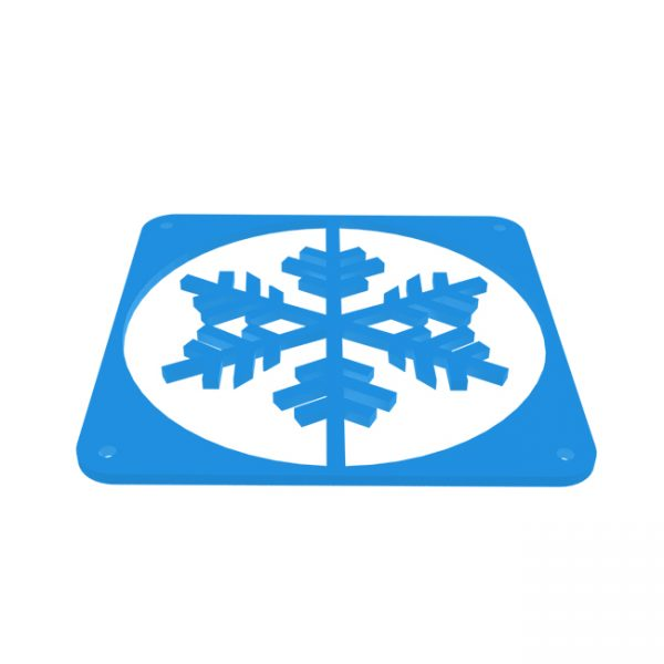 Snowflake fractal design Blauw fan grill 120mm