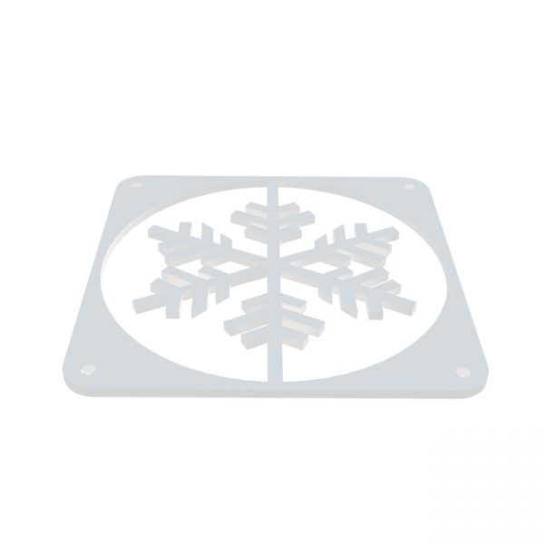 Snowflake fractal design Wit fan grill 120mm